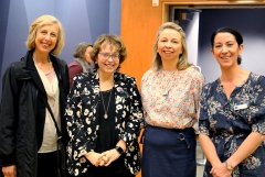 (L–R) Jane Simon (Chair of the Carey Board), Kairtsy Wilson (Inaugural Girl, OCG 1979), Leanne Guillon (Deputy Principal) and Katie Hunt (Alumni and Community Manager).